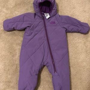 The North Face 3-6 Month Purple Snowsuit